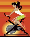 -woman-on-exercise-bike