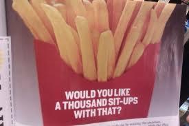 fries sit ups