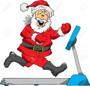 24054805-A-Cartoon-of-Santa-Running-on-a-Treadmill-Stock-Vector-santa-fitness-christmas